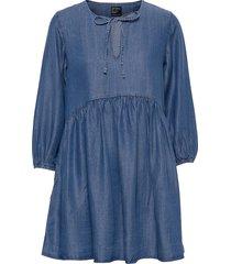 ls tencel dress kort klänning blå superdry