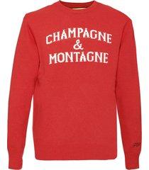 mc2 saint barth champagne & montagne red mans sweater
