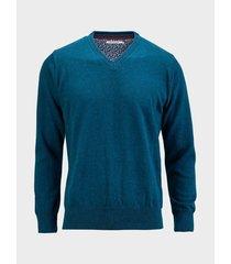 sweater cuello v unicolor para hombre 08914