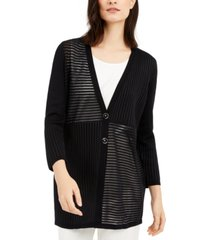 alfani petite mixed-knit cardigan, created for macy's