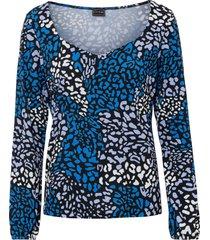 maglia fantasia a maniche lunghe (blu) - bodyflirt