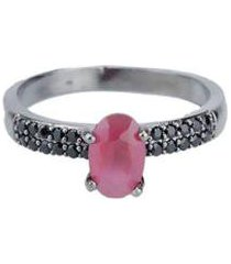 anel armazem rr bijoux pedra tamanho 18 - feminino