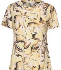 almaiw t-shirt t-shirts & tops short-sleeved beige inwear