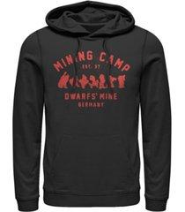 disney men's snow white mining camp est. 37, pullover hoodie