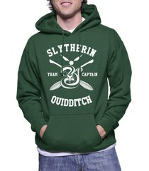 captain - new slytherin quidditch team captain unisex pullover hoodie dforest