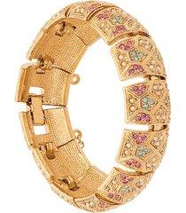 susan caplan vintage 1980s d'orlan pastel bracelet - gold