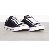 converse all star canvas ox sneakers svart