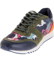 camouflage blauman sneakers / orange  black