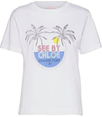 top t-shirts & tops short-sleeved vit see by chloé