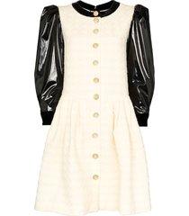 gucci vinyl-panelled mini dress - white
