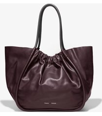 proenza schouler xl ruched tote chocolate plum/brown one size