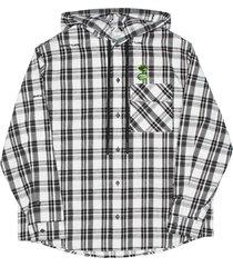 off-white hoodie check shirt