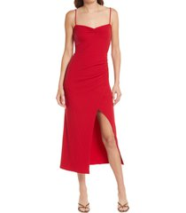 women's reformation formosa sleeveless rib dress, size x-large - red