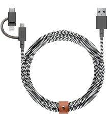 belt 3-in-1 charging cable - zebra