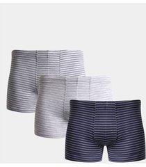 pantaloncillo pack x3 boxer corto algodon estampado