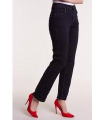 granatowe spodnie jeansowe milla