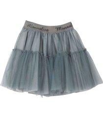monnalisa girl gray tulle skirt
