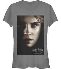 fifth sun harry potter deathly hallows hermione big face poster women's short sleeve t-shirt