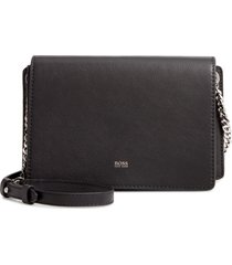 boss taylor leather crossbody bag - black