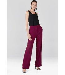 natori solid crepe trouser pants, women's, size 8