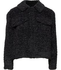 wendy jacket outerwear faux fur zwart soft rebels