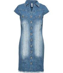 miniabito in jeans con bottoni (blu) - rainbow