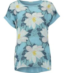 t-shirt summer flower lichtblauw