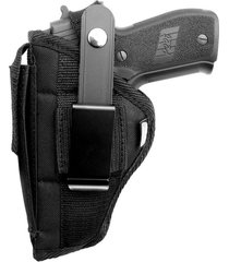 smith &wesson sd9ve & sd40ve/nylon owb belt holster with built-in magazine pouch