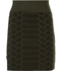 saia john john snake tricot verde militar feminina (verde militar, gg)