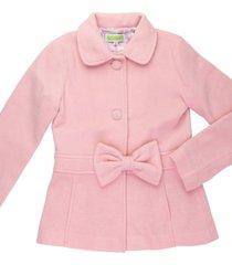 casaco l㣠laã§o removãvel gingga baby e kids rosa claro - rosa - menina - l㣠- dafiti