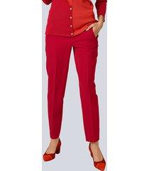 broek alba moda rood