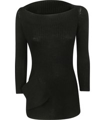 ys boat neck sweater