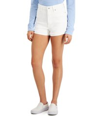 celebrity pink juniors' ultra high-rise curvy-fit jean shorts