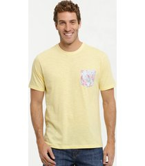 camiseta masculina flamê bolso manga curta mr