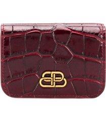 balenciaga bb mini wallet - red