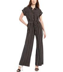 calvin klein petite striped jumpsuit