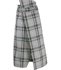 3.1 phillip lim plaid belted skirt - multi