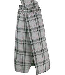 3.1 phillip lim plaid belted skirt - multi