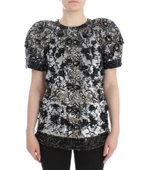 clear crystal runway blouse top