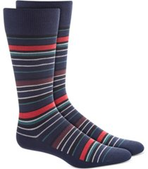 alfani men's variegated stripe socks, created for macy's