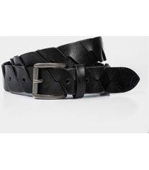 cinturón unifaz de cuero para hombre efecto trenzado