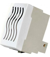 módulo cigarra 127v linha sleek branco - ref: 16040 - margirius - margirius