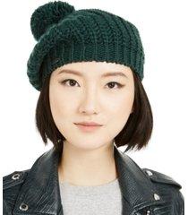 steve madden knit beret with pom