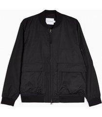 mens black bomber jacket