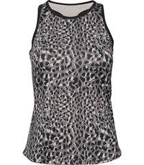 printed tank top t-shirts & tops sleeveless multi/mönstrad röhnisch