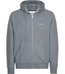 buzo embroidery zip-through hoodie calvin klein