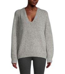 vince women's raglan sleeve wool-blend sweater - mist - size xl