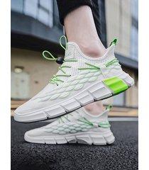 zapatillas deportivas de coco tejido volador de estilo coreano para hombre