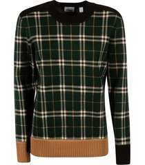 burberry checked knit sweater