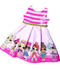 vestido lol patatitas i2075 rosa